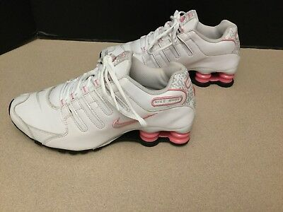 15436448bf6b9d Womens Nike Shox Nz White Pink Leather Running Shoes Size 6 5 Nice