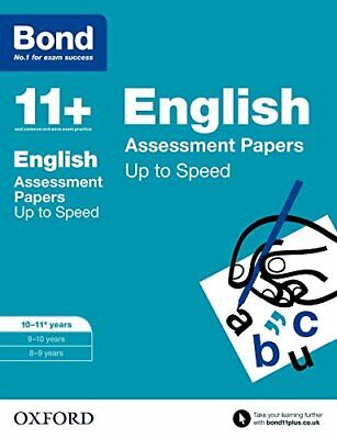 Bond 11+: English Up to Speed Papers: 10-11+ years by Bond 11+ Book The Cheap
