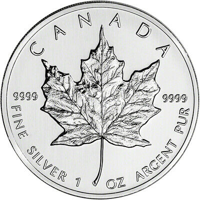 1990 Canada Silver Maple Leaf - 1 oz - $5 - BU