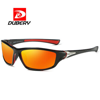 DUBERY Mens Sports Polarized Sunglasses Outdoor Cycling Bike Wrap Around Goggles