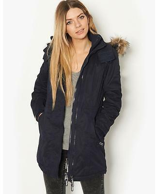 ⭐ Superdry Windcheater Coat Jacket XS extra small Fur Girls 8 Parka Womens New