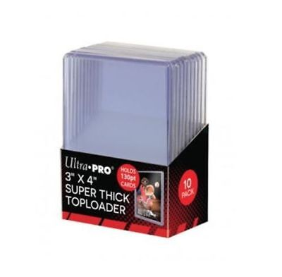 Ultra Pro Clear Thick 130pt TOPLOADER x 10 Rigid Card Protector TOP LOADER 3x4