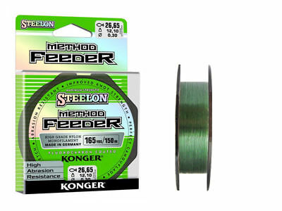 Steelon Method Feeder Fluorocarbon Coated High Grade Fishing Line Green 150 m