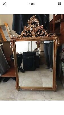 Antique French Gilt Large Mirror