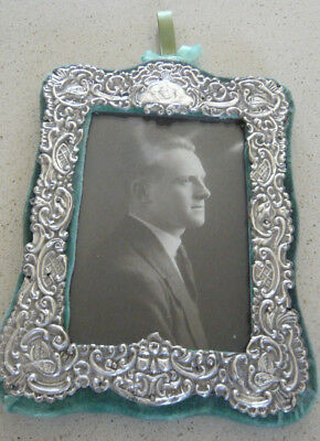 Distressed Antique Solid Silver Photograph Frame by Broadway & Co 1904 Birminghm