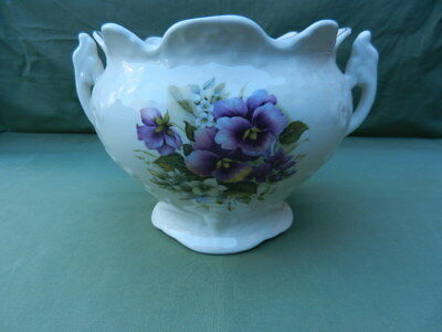 VINTAGE English Staffordshire Pottery JARDINIERE Planter