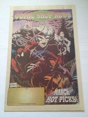 comic shop news # 194, 1991 mcfarlane ( spiderman , wolverine ) cover