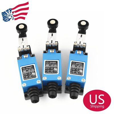 3Pcs ME-8104 Rotary Plastic Roller Arm Limit Switch for CNC Mill Plasma US Stock