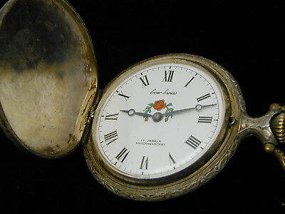 Ever Swiss Fishermans Hunter Pocket Watch From The 1960S Runs Needs Cleaning