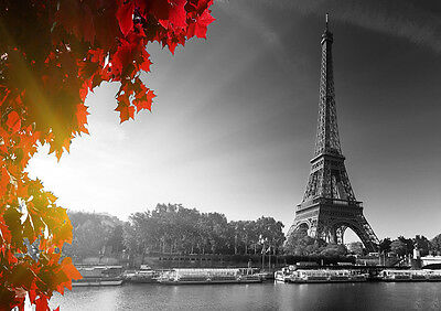 Eiffel Tower Paris Black And White Modern Picture Wall Art Poster Print