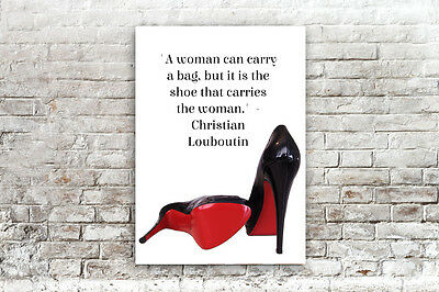 INSPIRATIONAL MOTIVATIONAL CHRISTIAN LOUBOUTIN QUOTE ..A4 POSTER/PRINT wall art