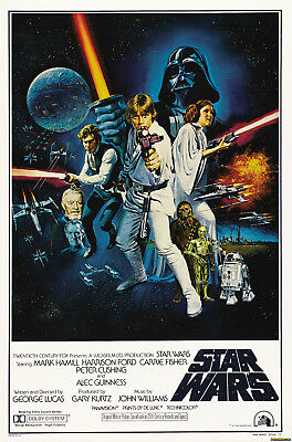 Star Wars Vintage Movie Poster A4 Wall Poster Print 280Gsm Satin Paper