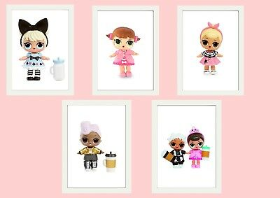 Lol Doll Prints Poster  A4 Ideal Xmas Gift 280Gsm Satin Paper , Childrens Room