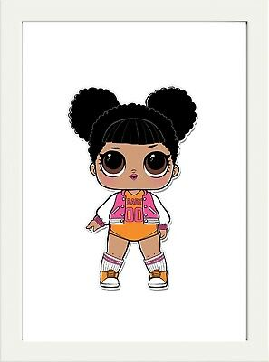 Lol Dolls  Prints Poster  A4 Ideal Xmas Gift 280Gsm Satin Paper Favourite Doll