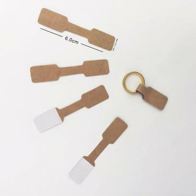 Kraft Paper Jewelry Display Card Labels Ring Hang Tag Store Show Supply 1000 Pcs