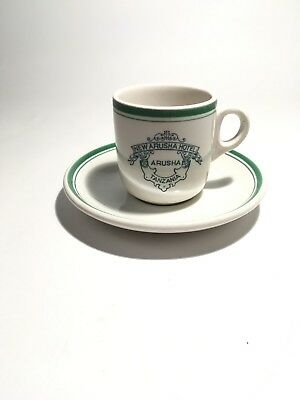 Antique Porcelain Teacup & Saucer NEW ARUSH HOTEL ARUSHA, TANZANIA Maddock China