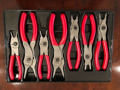 SNAP ON 7 PC. RETAINING RING PLIERS SET SRPC107A Red Vinyl Grips