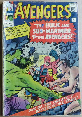 The Avengers #3, Early Marvel Silver Age Classic.