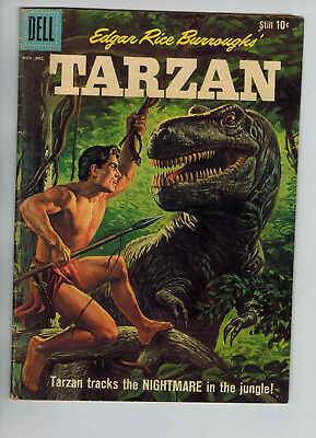 Edgar Rice Burrough's Tarzan #121 Dell Nov/Dec 1960 Dinosaur