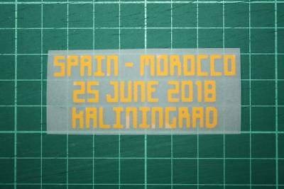 SPAIN World Cup 2018 Home Shirt Match Details SPAIN Vs MOROCCO