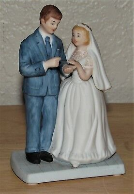 "EUC- "" BRIDE & GROOM "" By Norman Rockwell Museum 1984- 4.5"" T-LQQK !"