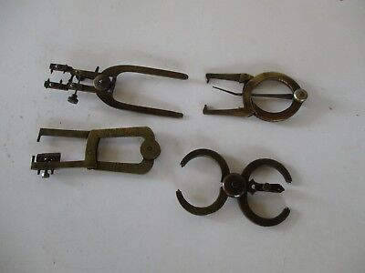 Vintage Clock Makers Tools Calipers Poising Depthing.