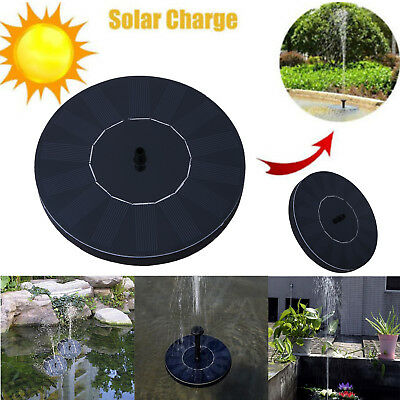 Floating Water Fountain Pump Solar Powered Panel For Garden Pool Pond Outdoor