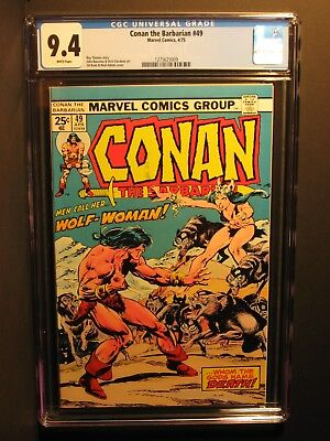 Conan the Barbarian  #49  CGC 9.4  4/75   WHITE Pages!  Neal Adams!!  NO RESERVE