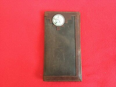 Vintage Western / Cowboy  Leather Wallet With Lone Star Concho. NWT