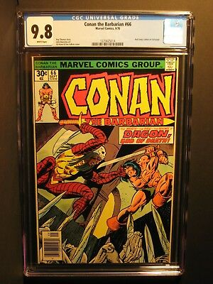 Conan the Barbarian  #66  CGC 9.8  9/76   WHITE Pages!  Red Sonja!  NO RESERVE