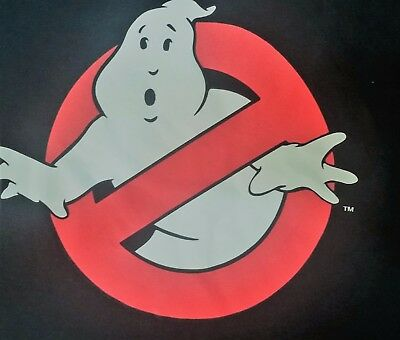 Who ya gonna Call? Classic Ghosbusters Movie Cartoon No Ghost Logo 80's L TShirt