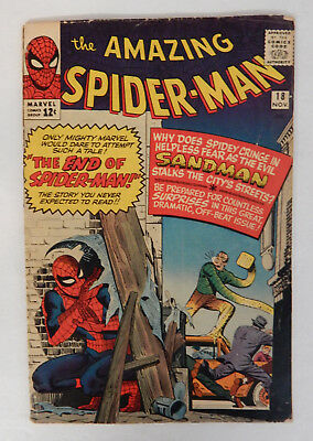 The Amazing Spider-Man #18 (November, 1964) Md Grade Maybe Higher NICE!