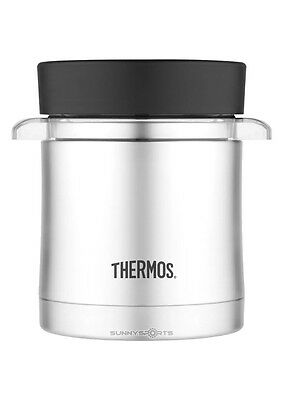 Thermos Food Jar with Microwavable Container, 12-Ounce, Stainless Steel, New