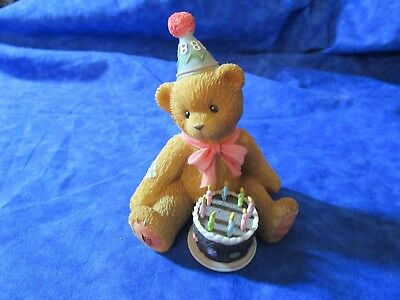 Cherished Teddies Birthday Being Eight is Really Great! Figurine