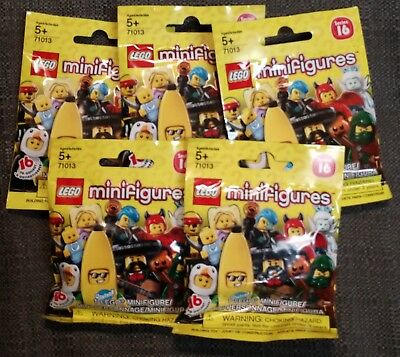 5 Sealed Lego Series 16 Minifigure Blind Bags Htf 9 50 Picclick