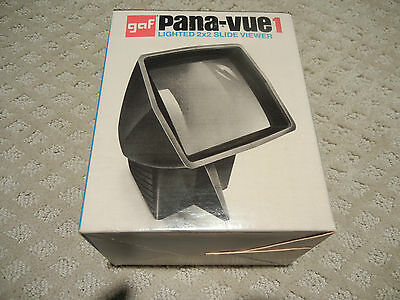 """1 - Vintage Pana-Vue 1 Lighted 2"""" x 2"""" Slide Viewers With Box and Instructions"""