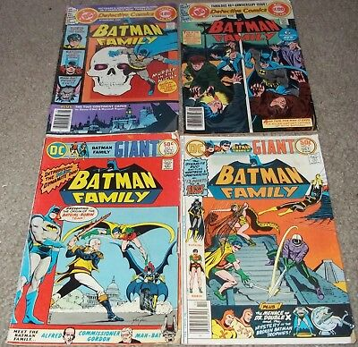 DC Comics Batman Family #1 7 Detective #481 483 comic book lot 1976-79 Batgirl