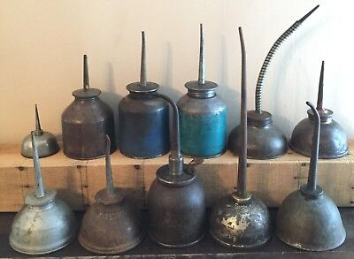 Old Vtg Oil Can Oiler Eagle Singer Gem Wilmot & Hobbs Gustave Lidseen Lot Of 11