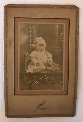CABINET CARD PHOTO EARLY 1900's NEW YORK CITY STUDIO AFRICAN-AMERICAN BABY