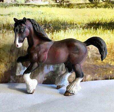 Custom CM Breyer drafter to shaded bay Clydesdale stallion