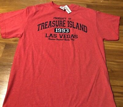Treasure Island Authentic Casino Merchandise Large Shirt New NWT Las Vegas 1993