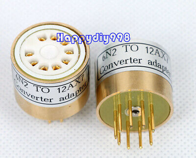 1PC  6N2 6H2N TO 12AX7 ECC83 6.3v  vacuum tube adapter socket converter