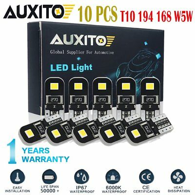 10x White 2825 194 168 W5W T10 Interior Map Dome Marker Trunk Light LED Bulb