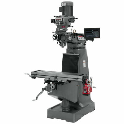 Jet 691198 JTM-2 Mill With 3-Axis Newall DP700 DRO(Quill) With X-Axis Powerfeed