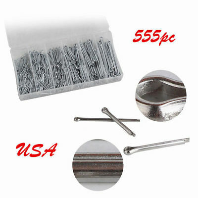 555pcs Stainless Steel Split Pins Clevis / Cotter Pin w/box