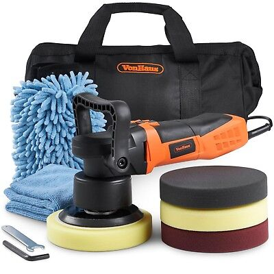 VonHaus Dual Action Car Polisher Kit 180mm Random Orbital Polishing Machine