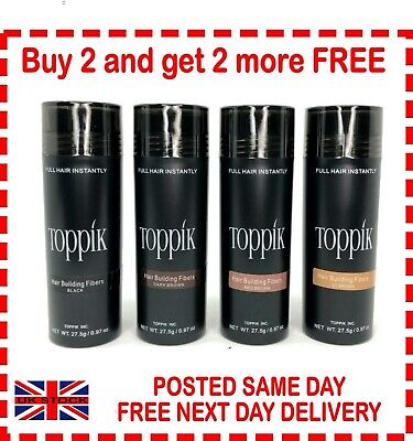 Toppik Hair Building Fibres 27.5g Buy 3 and get a 4th FREE (ADD 4 to Basket)