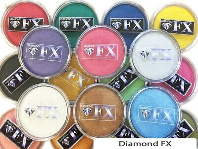 32g Diamond FX (DFX) Professional Face Paint ~ Metallic Colours