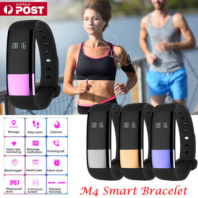 Fitness Activity Tracker Smart Watch Band Heart Rate Monitor Fitbit Android iOS