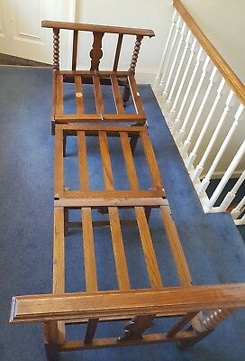 Vintage Recliner Chair Bed Antique Wooden Chair Bed Metamorphic Chair Upcycle